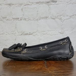 L.L. Bean black leather driving moccasin size 7 M